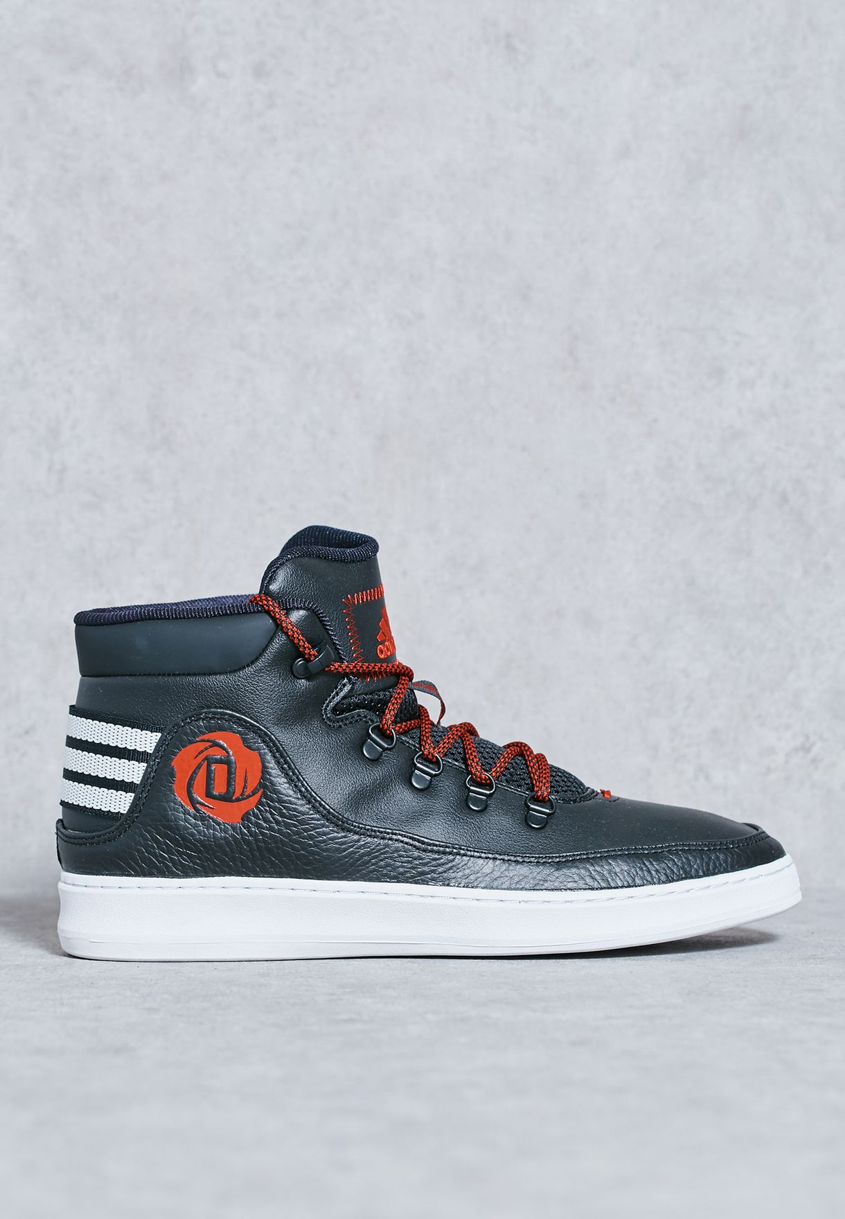 ad9aa675604f Shop adidas black D Rose Lakeshore Mid 2016 B72809 for Men in UAE ...