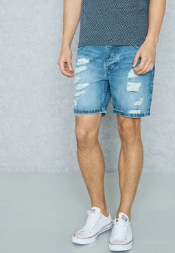 ReviewDistressed Denim Shorts