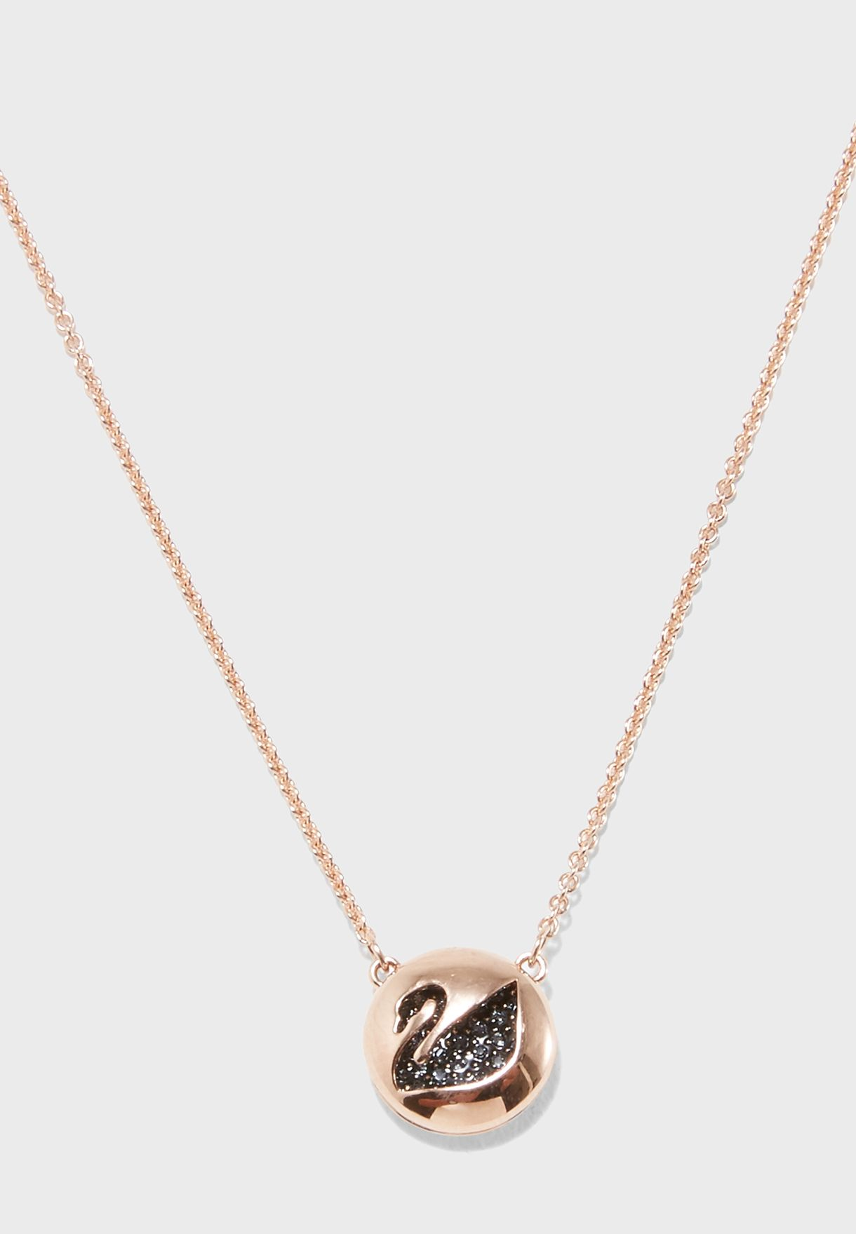 Hall Swan Pendant Necklace