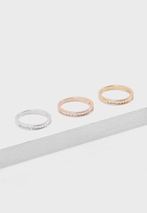 Pack of 3 Rings