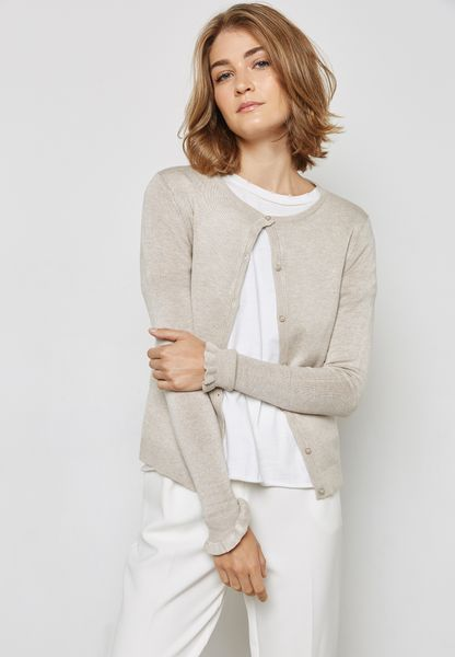 Frill Sleeve Detail Cardigan