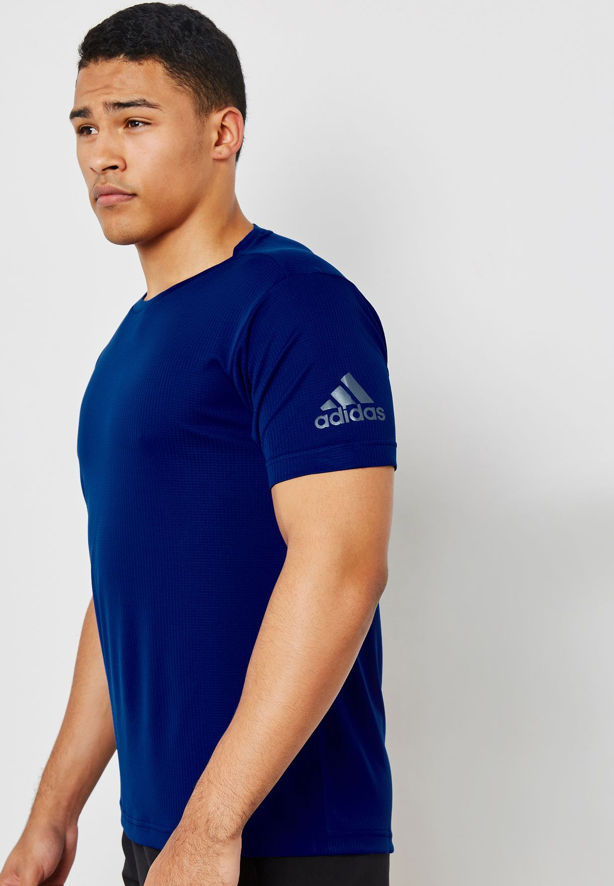 Buy Adidas Blue Freelift Climachill T Shirt For Men In Mena Worldwide Cx0222