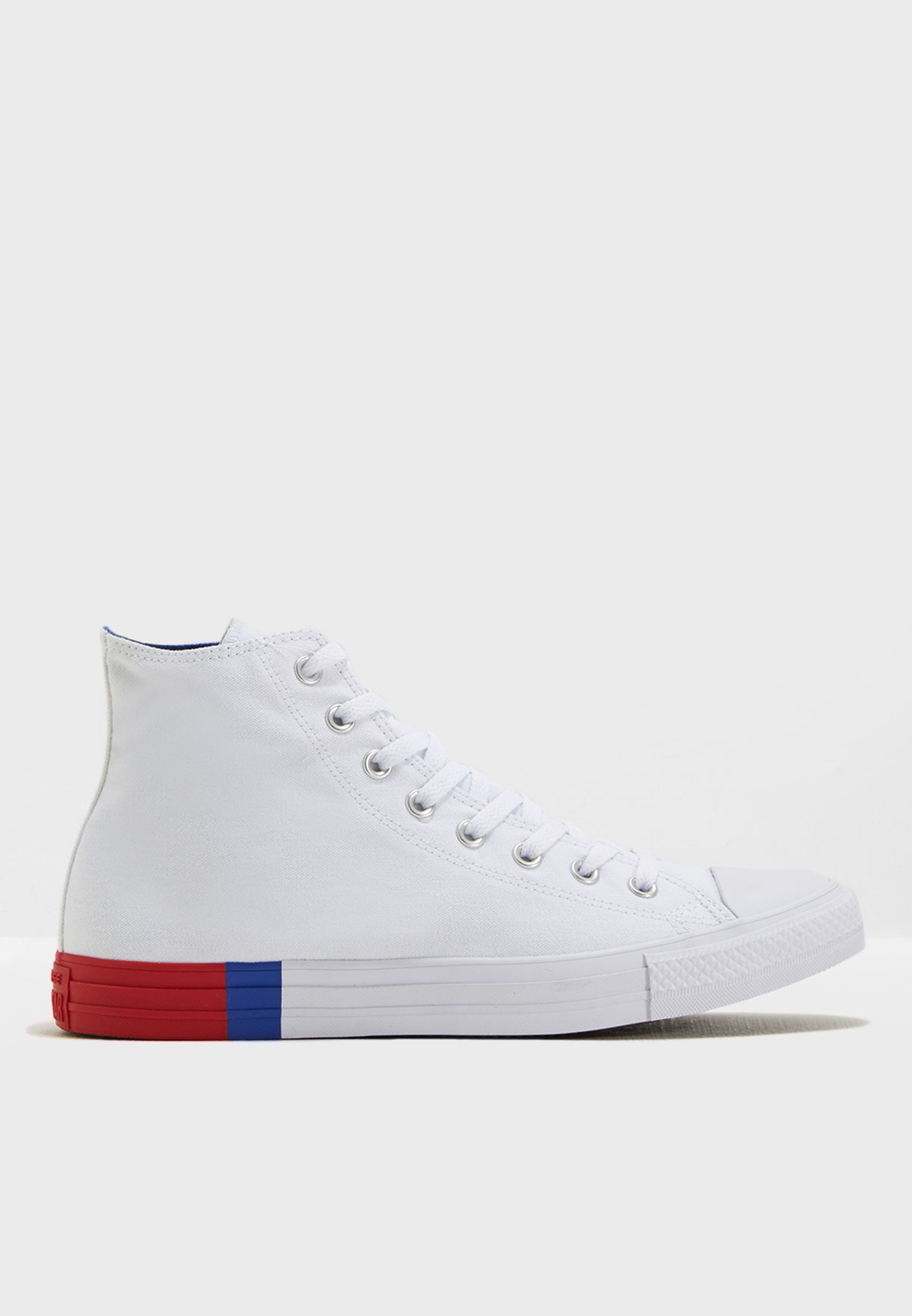 46c037adae710 Shop Converse white Chuck Taylor All Star Tri Block Midsole 159639C ...