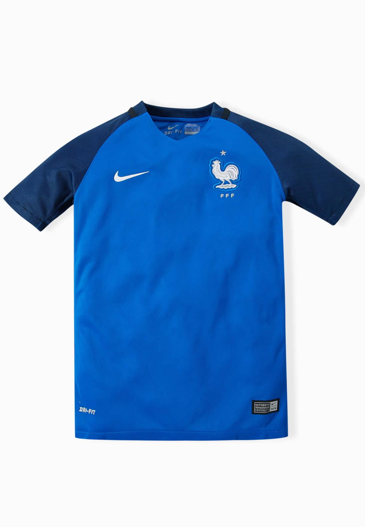 6460faa5214 Shop Nike blue Youth France Stadium Home Jersey 724698-439 for Kids ...