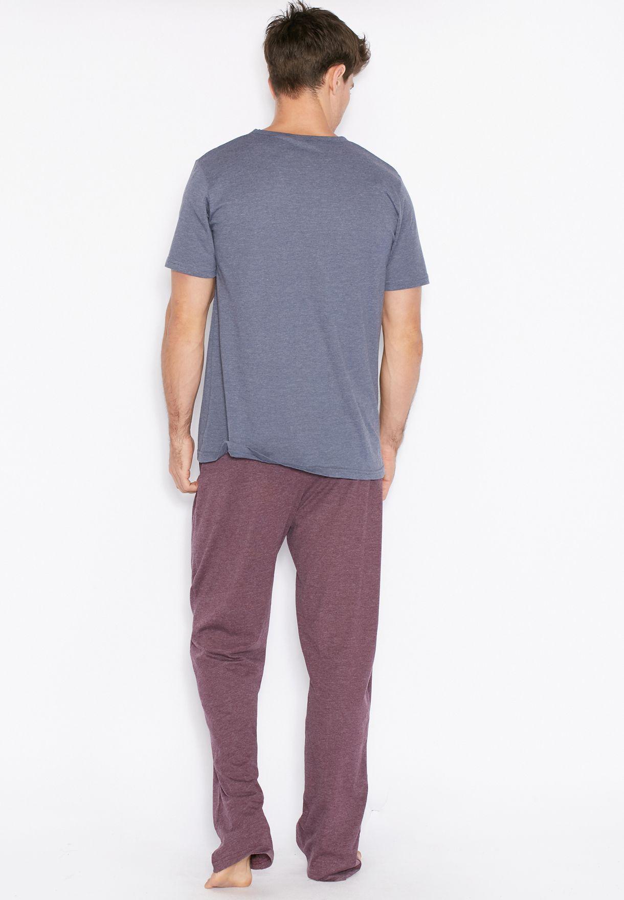 Tom Franks Dakota Wolves Short Sleeve Pyjama Set