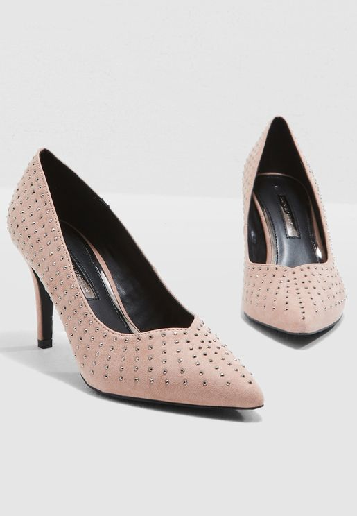 Glare Embellished Court Shoe