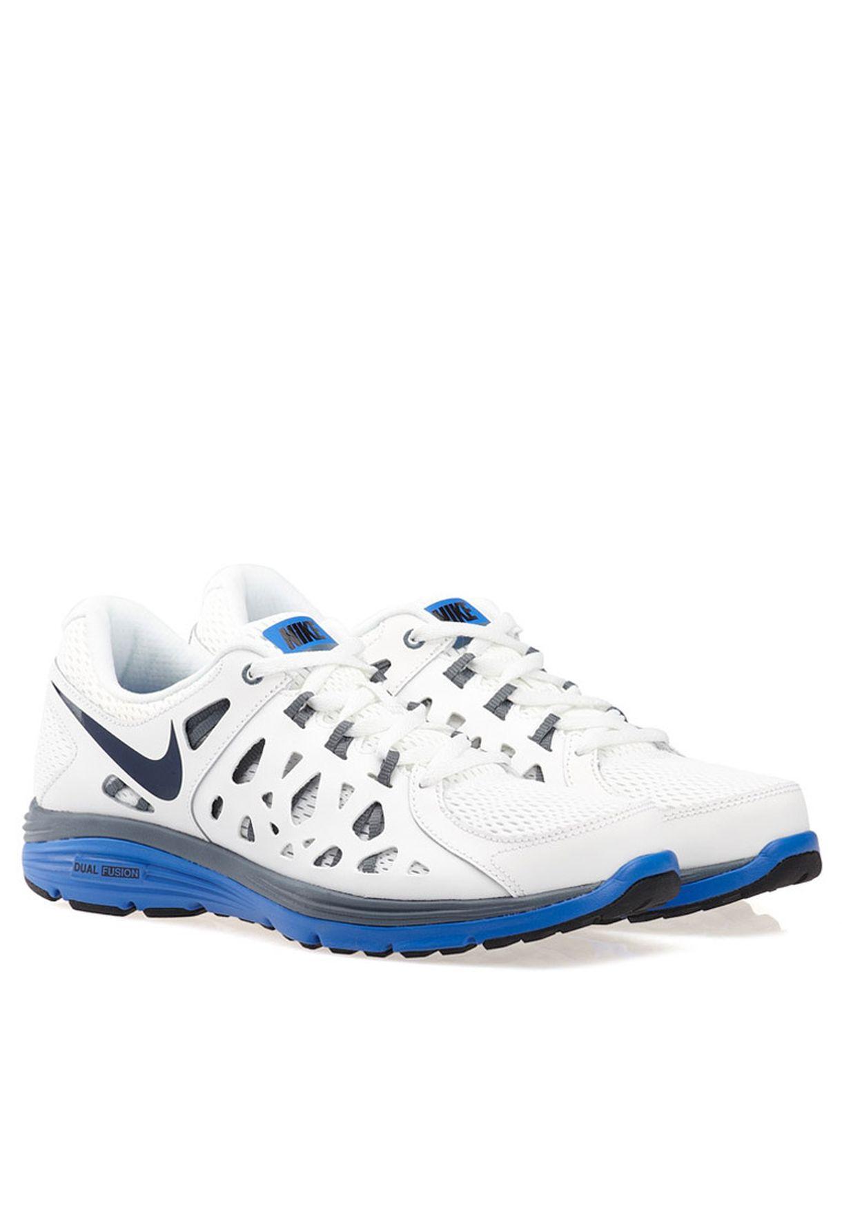 a7acfa407c979 Shop Nike white Nike Dual Fusion Run 2 599541-100 for Men in Qatar ...