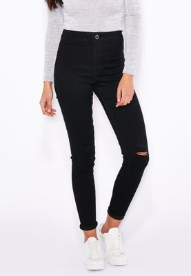 Ginger Knee Slit Tube Skinny Jeans