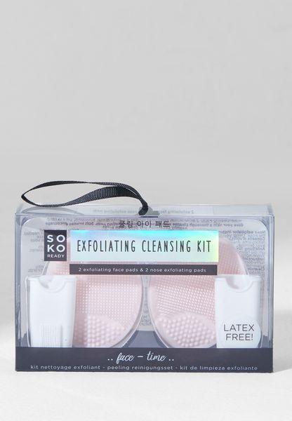 مجموعة وسادات لتنظيف وتقشير الوجه