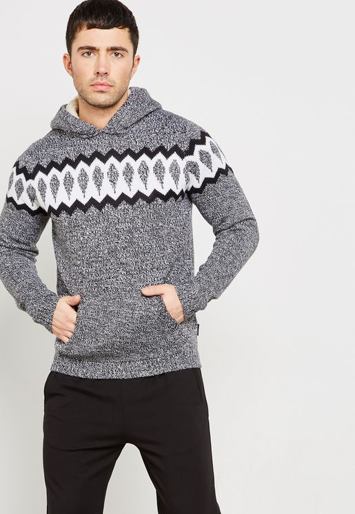 Gunnar Jaquard Hooded Jumper