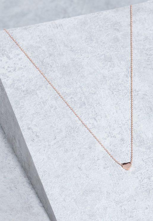 Thread Thru Heart Necklace