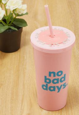 No Bad Days Tumbler With Straw