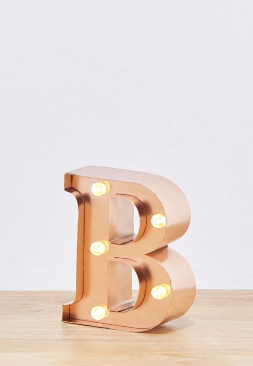 Rose Gold B Mini Marquee Letters
