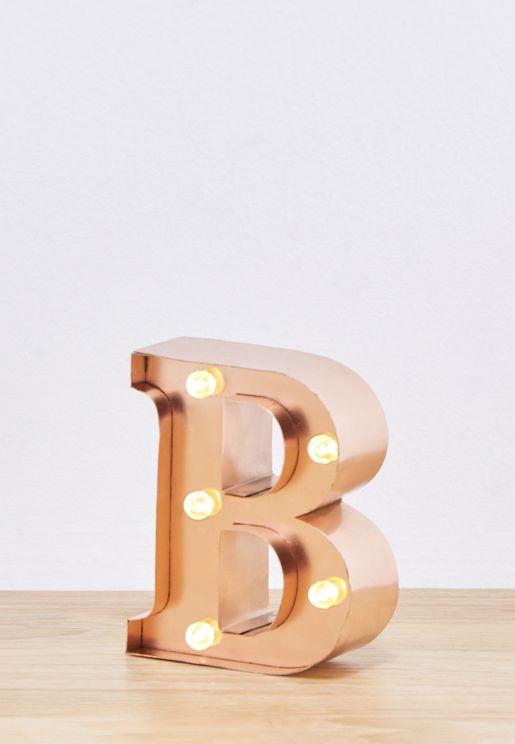 """وحدة اضاءة صغيرة بشكل حرف """"B"""""""