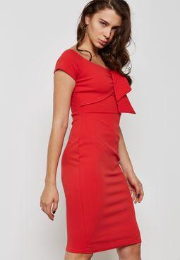 Bardot Bow Bodycon Dress