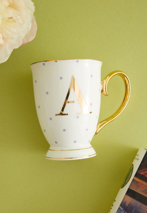A Alphabet Spotty Mug