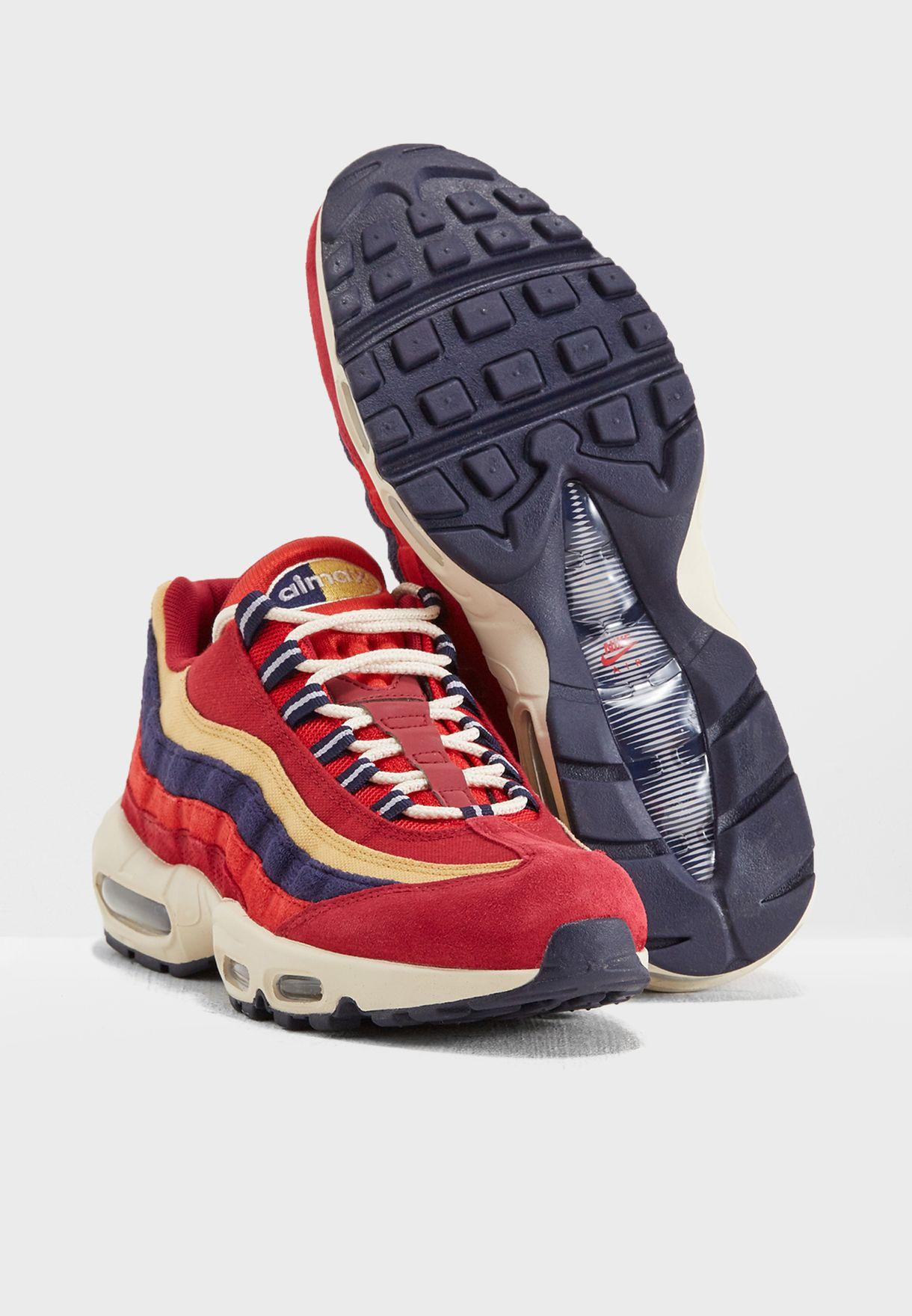 huge discount 9bee5 0e787 Shop Nike red Air Max 95 PRM 538416-603 for Men in Saudi - NI727SH87LYE ...