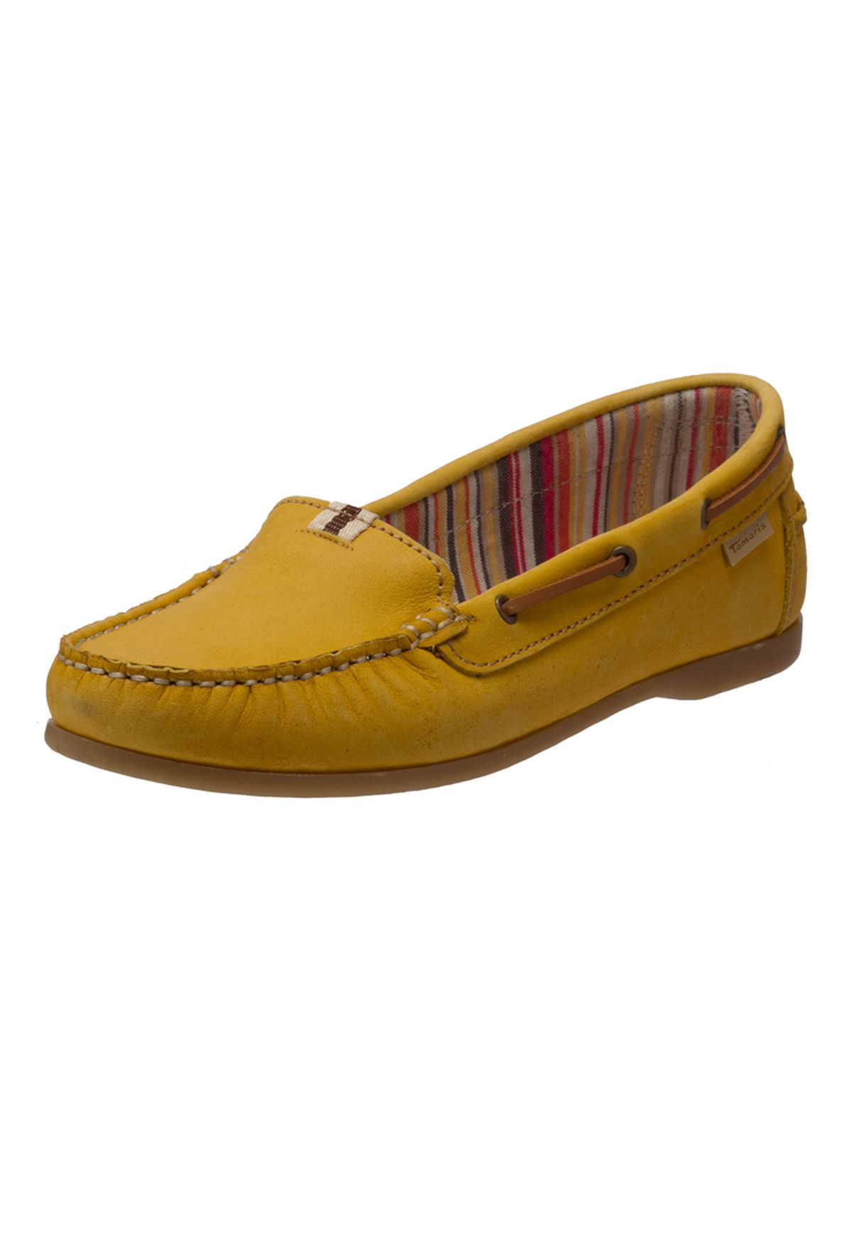 Shop Tamaris yellow Leather Moccasin Shoes for Women in Saudi - TA144SH87XHG cbc61fea003c