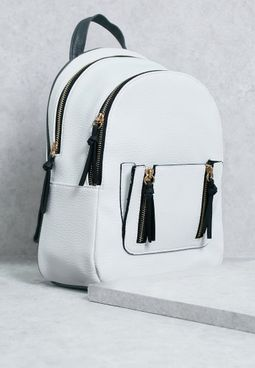 Mini Curve  Zip Pocket Backpack