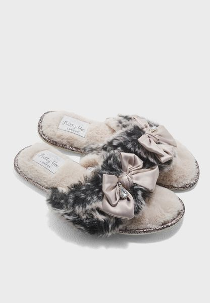 Venice Fur And Bow Slip On