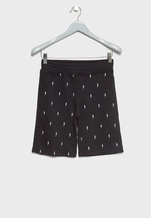 Little Lightening Bolt Print Shorts