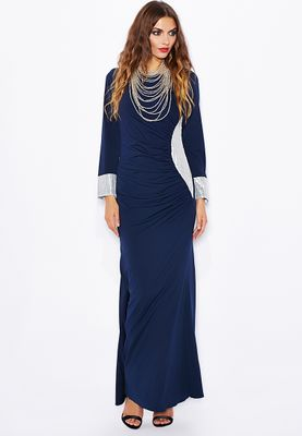 Emel by Melinda Looi Side Panel Ruched Abaya