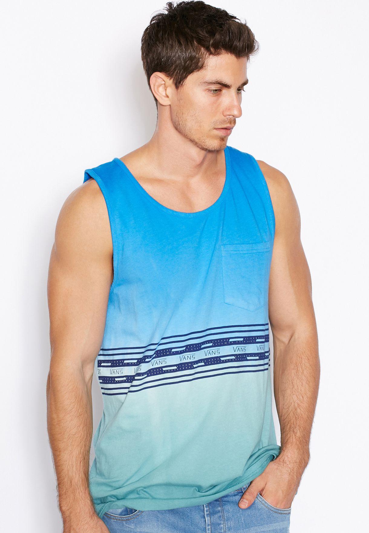 d4b11e11aea8 Shop Vans blue Colour Block Vest for Men in Bahrain - VA088AT87AZC