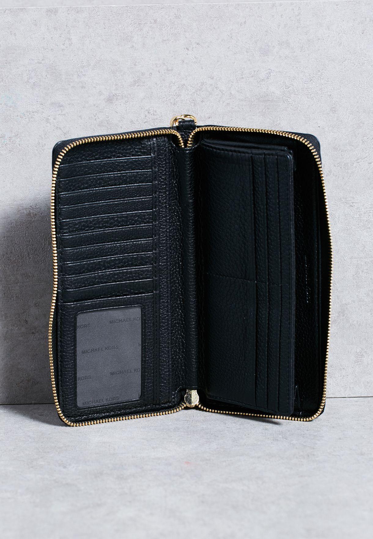 8341eaa0fe241 Shop Michael Michael Kors black Bedford Travel Continental Purse ...