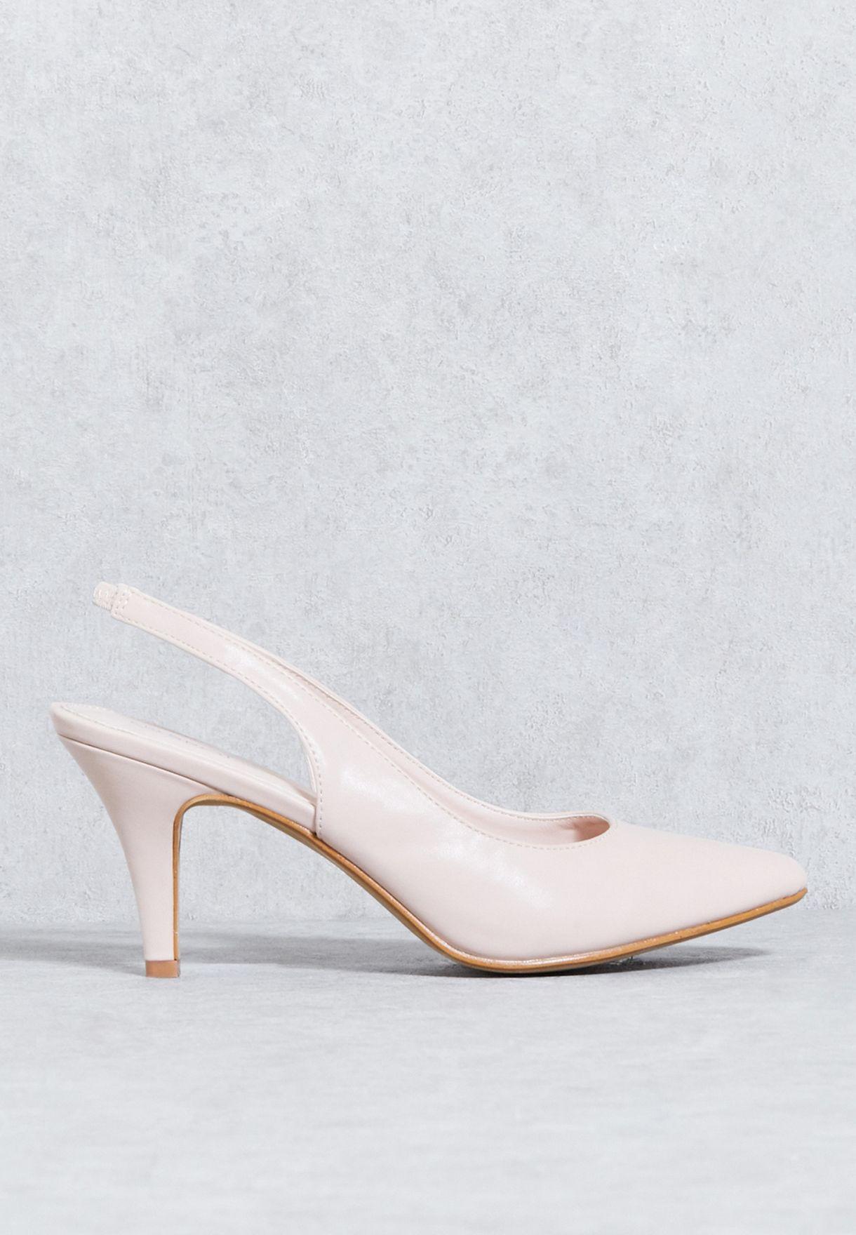 e15d04b79a37 Shop Spot on neutrals Mid Heel Slingback Court Shoe F9987UM1 for Women in  Oman - SP585SH87JEI