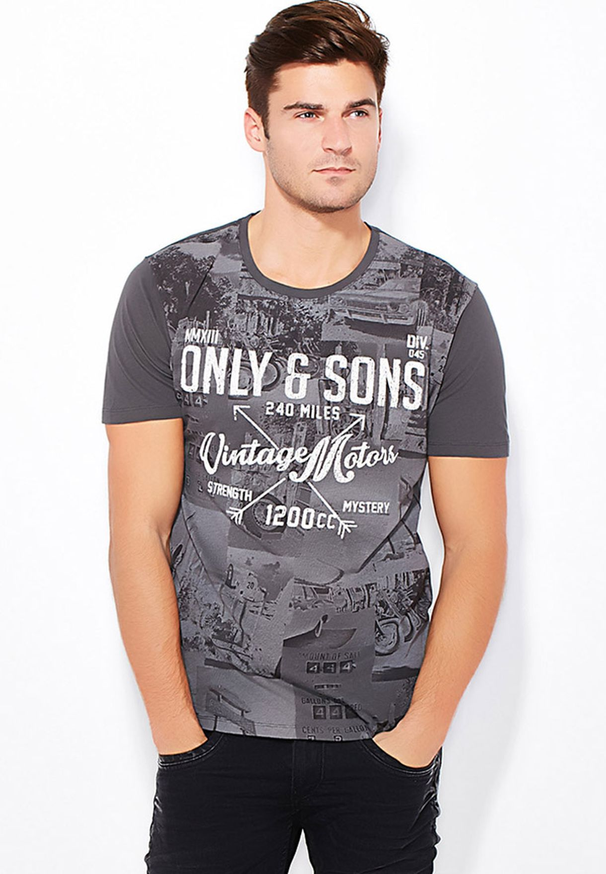 5364a529 Shop Only sons black Printed T-Shirts for Men in Qatar - ON695AT87OCQ