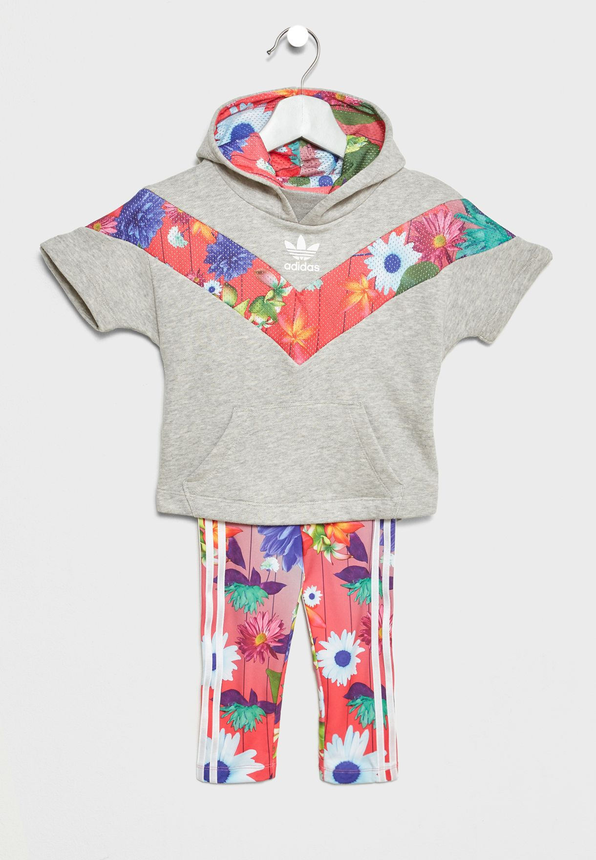 d6e15e0ae7d41 Shop adidas Originals multicolor Infant Graphic Hoodie+Leggings Set ...