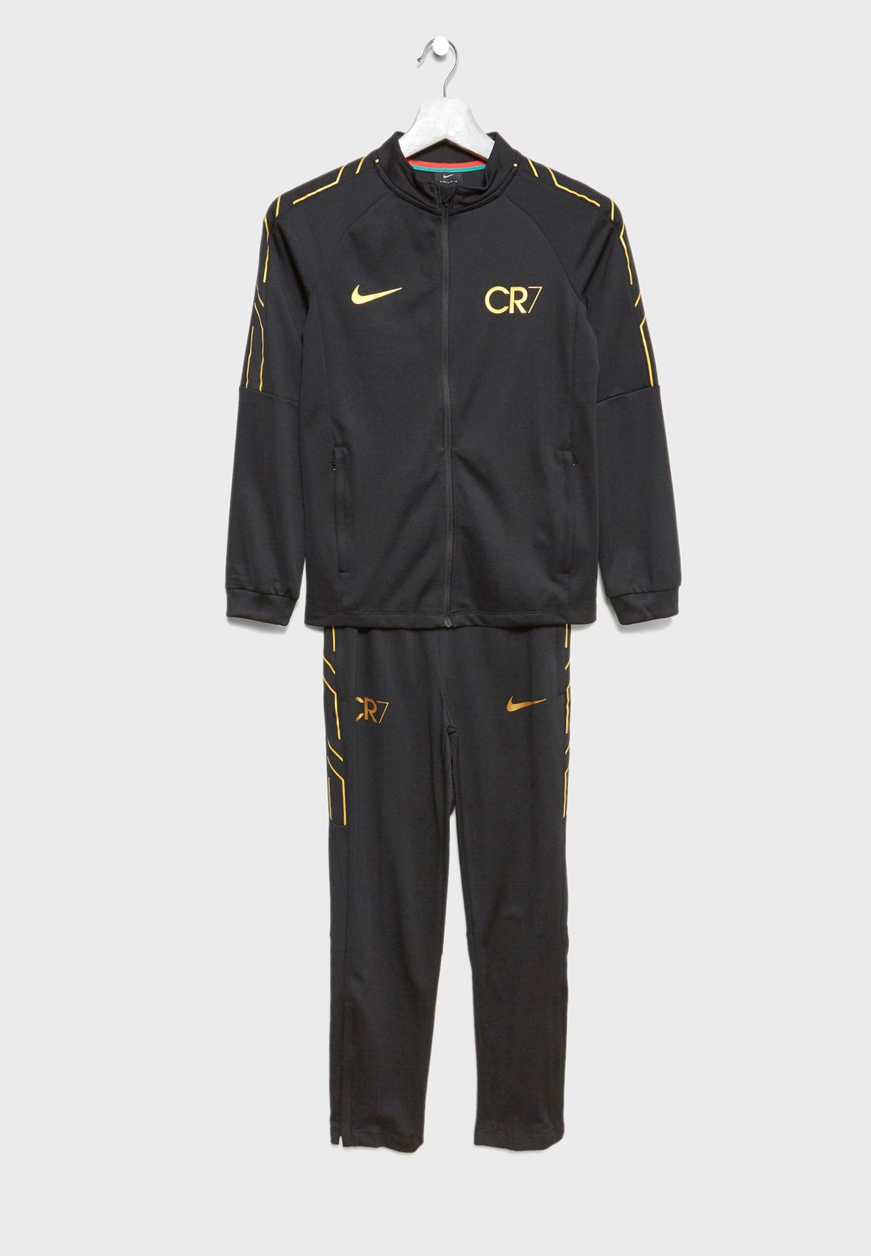 3e419fcae46 Shop Nike black Youth CR7 Dri-FIT Academy Tracksuit 894878-010 for ...
