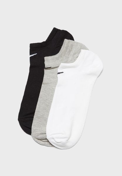 3 Pack Cushion No Show Socks