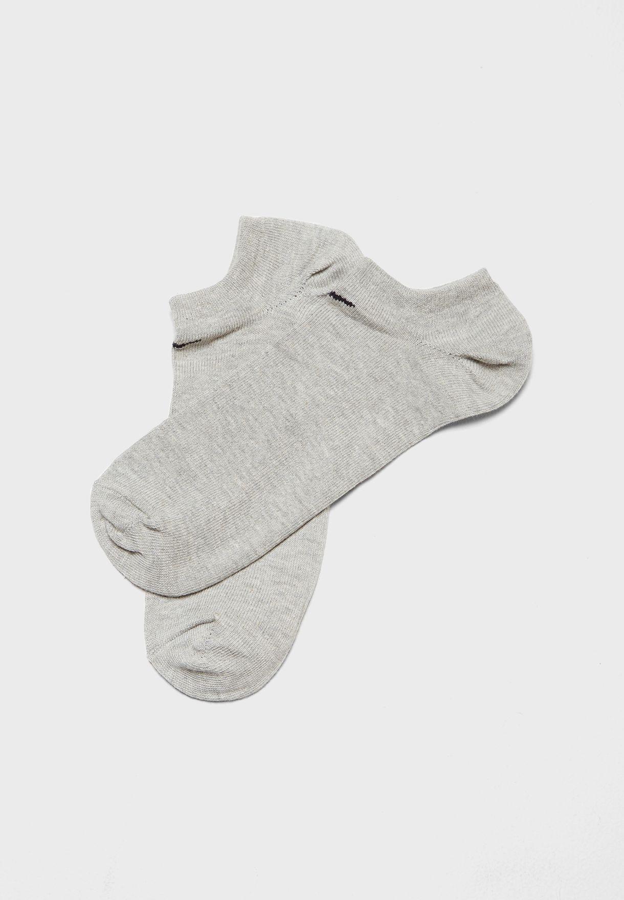 3 Pack Cushion No Show Socks