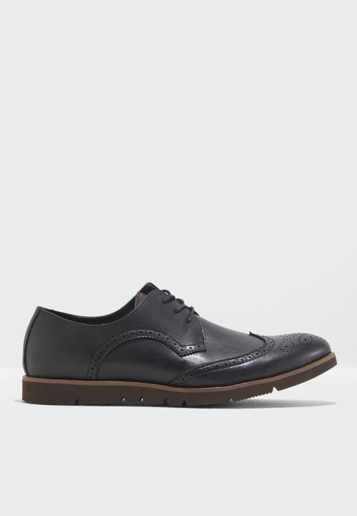 Brogue Wing Cap Derby Lace Ups