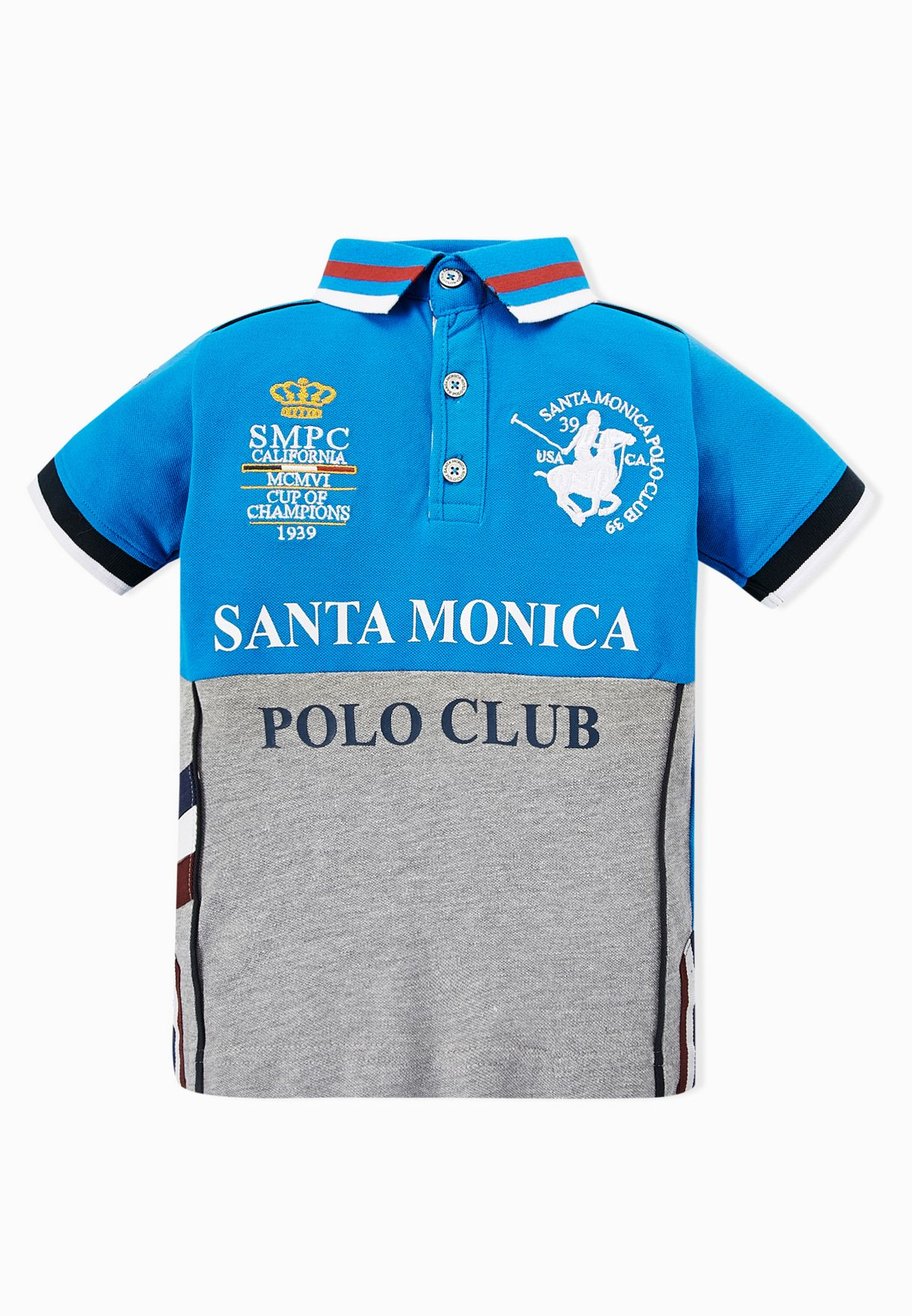 4d45e8b2 Shop Santa monica polo club multicolor Kids Bingham Polo Shirt for ...