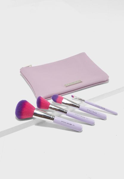 4 Pack Face Lilac Pouch Set