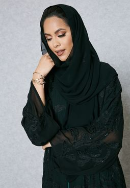Embroidered Embellished Abaya