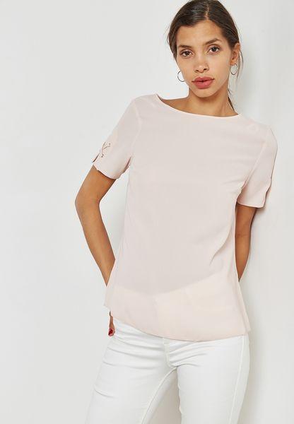 Eyelet Trim T-Shirt