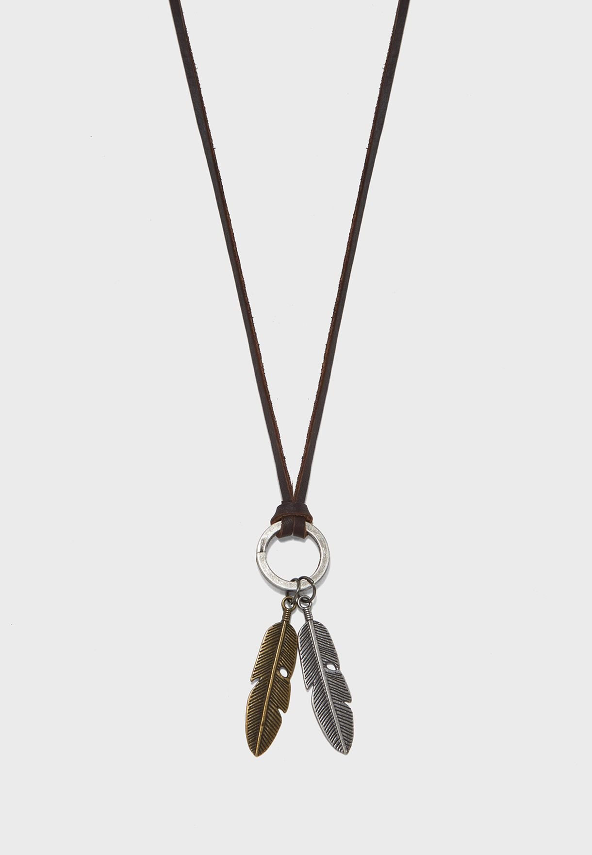 Dual Feather Necklace