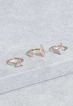Set Of 3 Cadiwet Ring