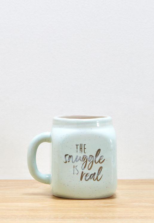 Snuggle Is Real Slogan Mug