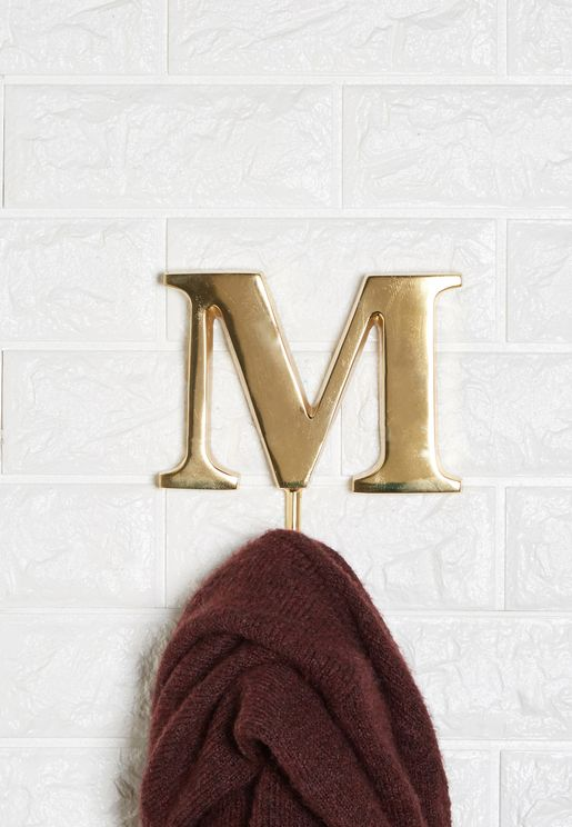 M Alphabet Hook