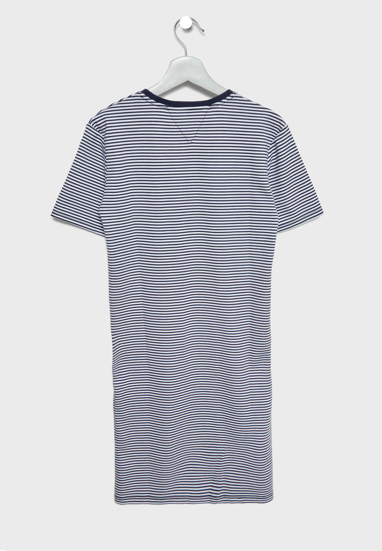 Teen Stripped Shift Dress