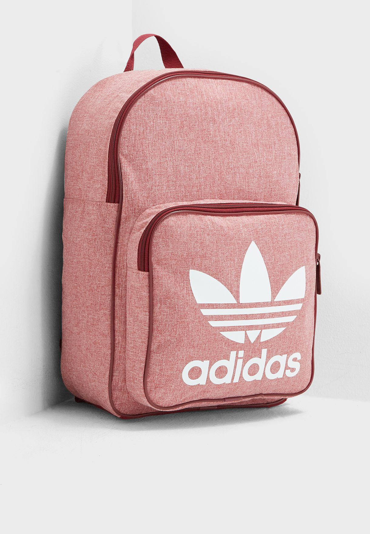 Shop adidas Originals red Trefoil Backpack D98924 for Women in UAE ... 7d2bc9990998c