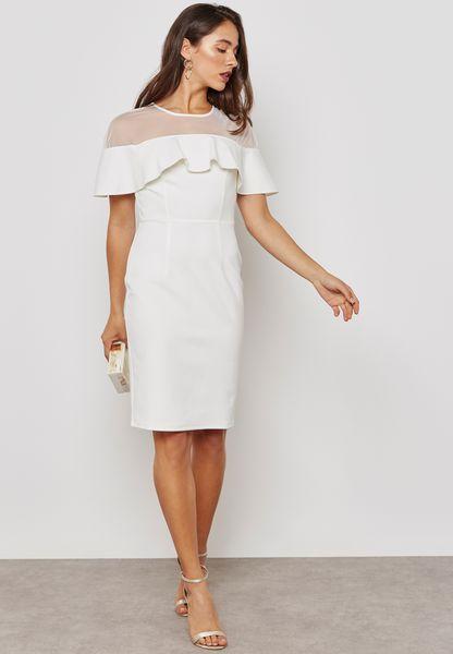 Mesh Top Scuba Dress