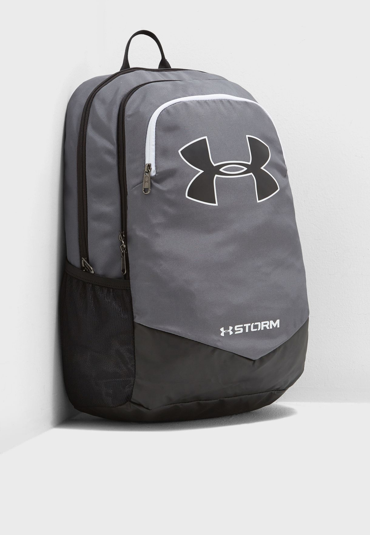Shop Under Armour grey Scrimmage Backpack 1277422-040 for Kids in ... 378d1dbcbd979
