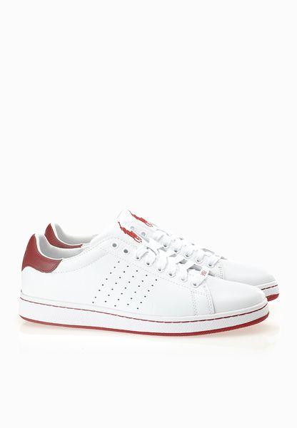 Polo Ralph Lauren Wilton White Red Sneakers - Men