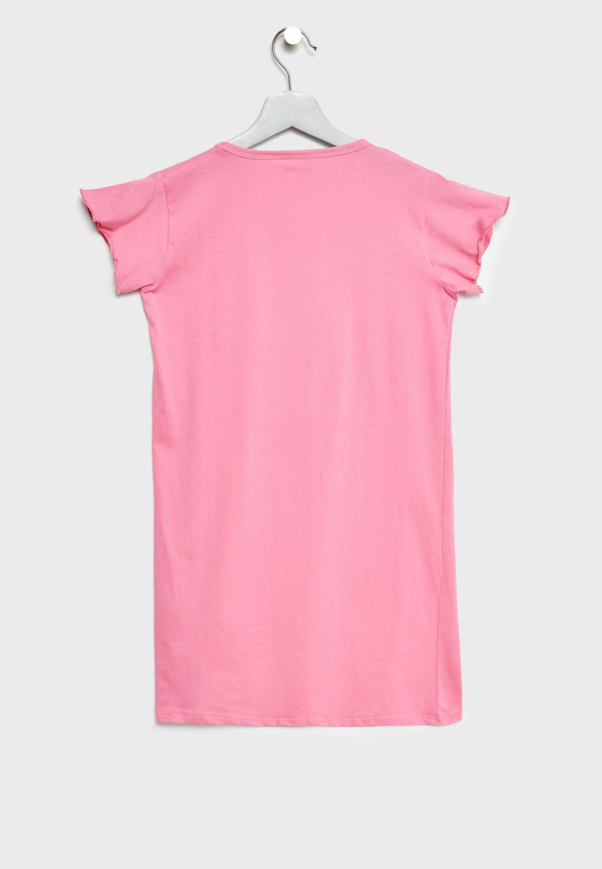 قميص نوم اطفال بطبعة جرافيك
