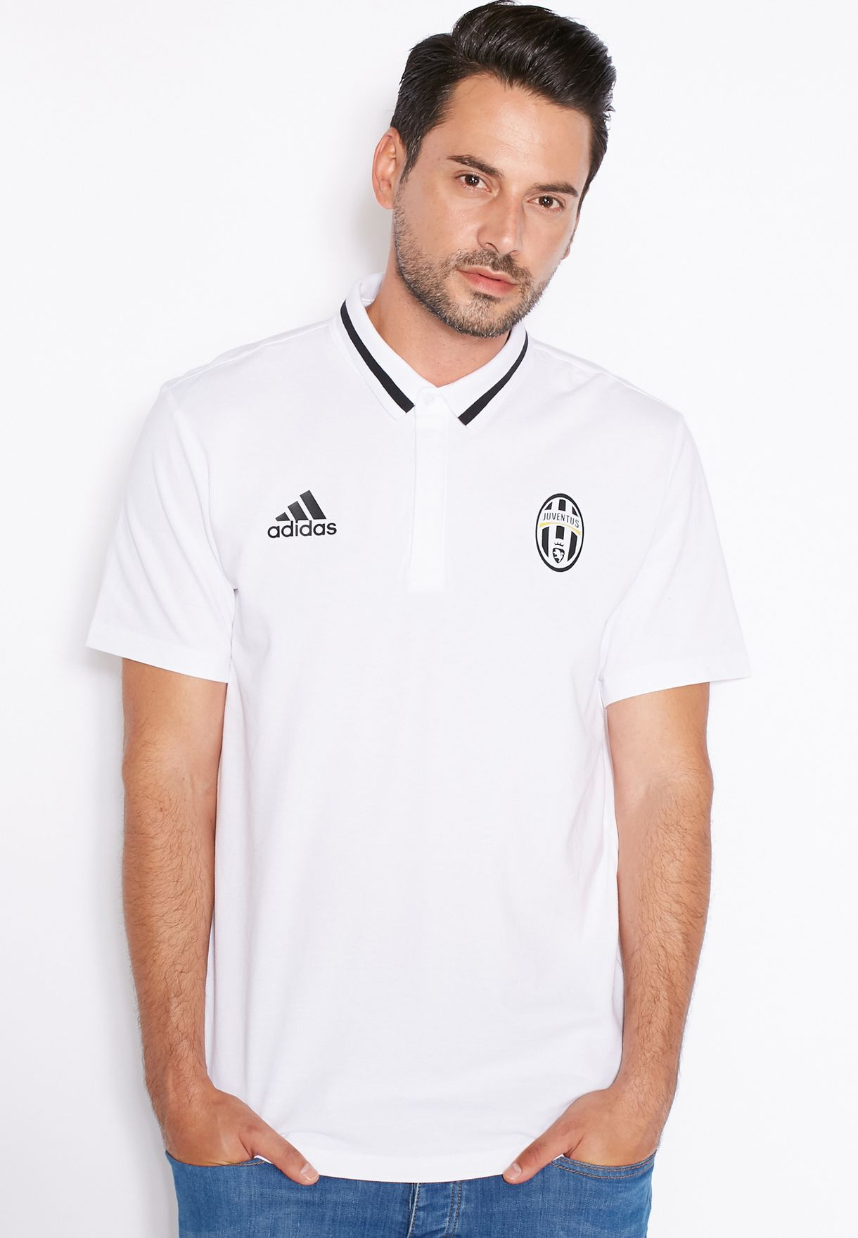 88afaa883 Shop adidas white Juve Authentic Polo AI5117 for Men in UAE ...